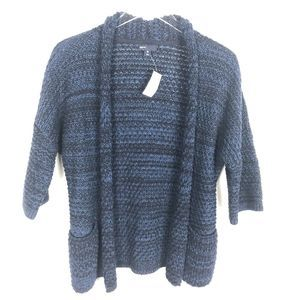 Gap Kids Cardigan Open Knit Navy Marled XL NWT